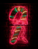 Candycane Christmas Light Stock Photography