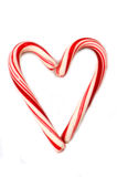 Candycane Heart Royalty Free Stock Images