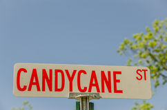 Candycane St Sign Stock Photos