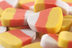 Candycorn Erasers. Multiple candycorn erasers in a ile royalty free stock images
