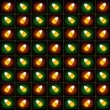 candycorn wzór trzy Obrazy Stock
