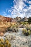 Candyland треснуло землю и красочные горные породы песчаника стоковое фото rf