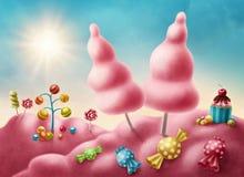 Candyland di fantasia illustrazione di stock