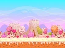 Candyland illustration royaltyfri illustrationer