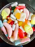 Candyland på en lördag eftermiddag i Norge royaltyfri bild