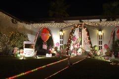 Candyland Weihnachtsleuchten Lizenzfreies Stockbild