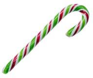 色的甜糖果,棒棒糖棍子,圣尼古拉甜点,被隔绝的圣诞节candys,白色背景 免版税库存图片