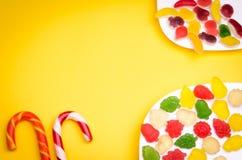 Candys en overvloed van kleurrijke gelei Royalty-vrije Stock Foto
