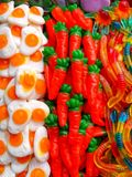 Eggs and carrots royalty free stock images