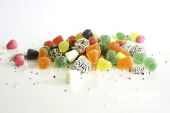 Candys. Mix of candys    on the white background Stock Image