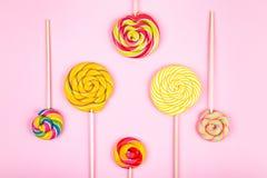 Candys no fundo fotografia de stock royalty free