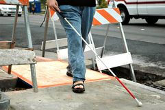 Cane And Construction Stock Image