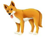 Cane animale del dingo del fumetto Immagine Stock Libera da Diritti