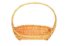 Cane basket with handle Stock Images