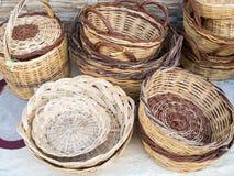 Cane baskets Stock Photos