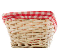 Cane bread basket isolated Royalty Free Stock Photography