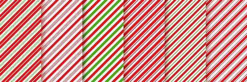 Free Cane Candy Seamless Pattern. Vector Red Green Illustration Stock Photo - 150658510