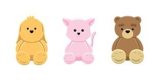 Cane Cat Bear Vector Illustration della bambola Fotografia Stock Libera da Diritti
