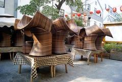 Cane chair Stock Photos