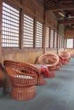 Cane chairs. Local artifact, cane chair in suzhou, jiangsu province, China Stock Photography
