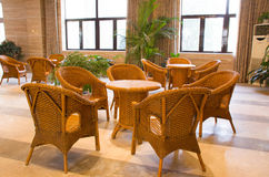 Cane chairs royalty free stock image