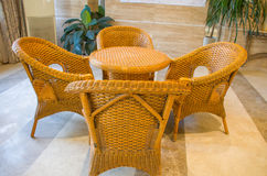 Cane chairs royalty free stock photos