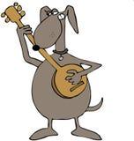 Cane che gioca un banjo illustrazione vettoriale
