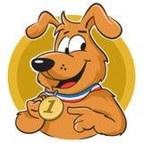 Cane con la medaglia Fotografia Stock Libera da Diritti
