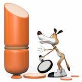 Cane con la salsiccia. illustrazione. Immagine Stock