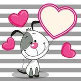 Cane con la struttura del cuore royalty illustrazione gratis