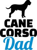 Cane Corso dad silhouette. With blue word Royalty Free Stock Image