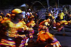 Cane Dancers, Sri Lanka. Traditional Sri Lankan Dancers at the Poson Perahera, Attidiya, 2017 Royalty Free Stock Images