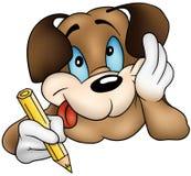 Cane del cucciolo del Brown Fotografie Stock Libere da Diritti