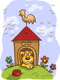 Cane del fumetto nella cabina Immagine Stock