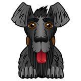 Cane del fumetto su un fondo bianco royalty illustrazione gratis