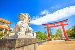 Cane del guardiano a Kamakura fotografie stock