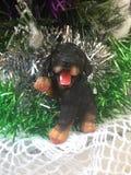 Cane del nuovo anno fotografia stock
