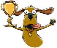 Cane del trofeo Fotografia Stock