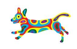 Cane 10 dell'arcobaleno Immagine Stock Libera da Diritti