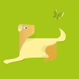 Cane della carta su fondo verde L'idea per l'autoadesivo royalty illustrazione gratis