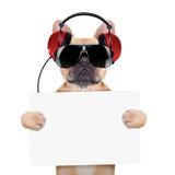 Cane della discoteca del DJ Fotografia Stock
