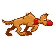 Cane di camminata illustrazione di stock