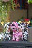 Cane di carta della zebra Immagine Stock