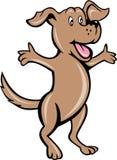 Cane di cucciolo dell'animale domestico del fumetto Fotografia Stock Libera da Diritti