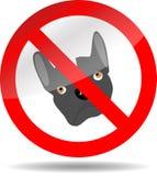Cane di divieto del segno Immagini Stock Libere da Diritti