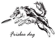 Cane di frisbee royalty illustrazione gratis