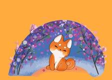 Cane di Kawaii del vettore di stile del fumetto della razza di inu di shiba illustrazione vettoriale