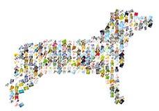 Cane di simbolo Fotografia Stock Libera da Diritti