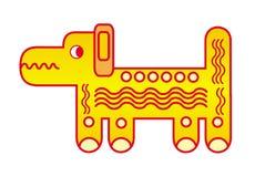 Cane divertente del fumetto Modello futuristico grafico simbolico Vettore illustrazione di stock