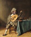 Cane divertente, parodia della pittura a olio, surreale immagini stock